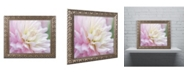 "Trademark Global Cora Niele 'White and Pink Dahlia' Ornate Framed Art - 20"" x 16"" x 0.5"""