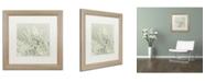 "Trademark Global Cora Niele 'Dandelion Dew III' Matted Framed Art - 16"" x 16"" x 0.5"""