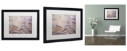 "Trademark Global Cora Niele 'Dew Fox Tail Grass' Matted Framed Art - 16"" x 20"" x 0.5"""
