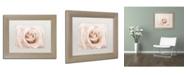 "Trademark Global Cora Niele 'Peach Pink Rose' Matted Framed Art - 14"" x 11"" x 0.5"""
