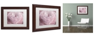 "Trademark Global Cora Niele 'Persian Pink Petals' Matted Framed Art - 14"" x 11"" x 0.5"""