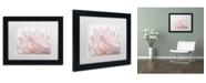 "Trademark Global Cora Niele 'Pink Peony Petals V' Matted Framed Art - 11"" x 14"" x 0.5"""