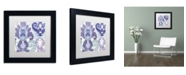"""Trademark Global Color Bakery 'Blue Curry I' Matted Framed Art - 11"""" x 11"""" x 0.5"""""""