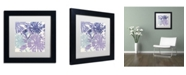 """Trademark Global Color Bakery 'Blue Curry II' Matted Framed Art - 11"""" x 11"""" x 0.5"""""""