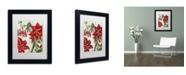 "Trademark Global Color Bakery 'Amaryllis' Matted Framed Art - 11"" x 14"" x 0.5"""