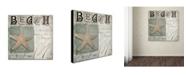 "Trademark Global Color Bakery 'Beach Book II' Canvas Art - 18"" x 2"" x 18"""