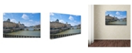 "Trademark Global Cora Niele 'Palais de la Cite' Canvas Art - 19"" x 12"" x 2"""
