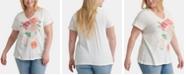 Lucky Brand Plus Size Cotton Bouquet Graphic-Print T-Shirt
