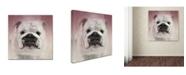 "Trademark Global Jai Johnson 'Got Treat Bulldog Puppy' Canvas Art - 24"" x 24"" x 2"""