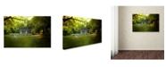 "Trademark Global Jai Johnson 'River Cottage In Summer' Canvas Art - 24"" x 16"" x 2"""