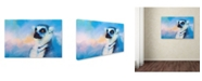 "Trademark Global Jai Johnson 'Colorful Expressions Lemur' Canvas Art - 19"" x 12"" x 2"""