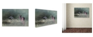 "Trademark Global Jai Johnson 'Heading Home In The First Snow' Canvas Art - 32"" x 22"" x 2"""