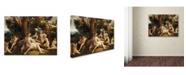 "Trademark Global Correggio 'Leda And The Swan' Canvas Art - 47"" x 35"" x 2"""