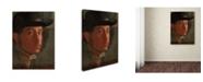 "Trademark Global Degas 'Selfportrait' Canvas Art - 47"" x 35"" x 2"""