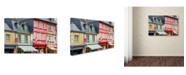 "Trademark Global Cora Niele 'Timber Framed Shops' Canvas Art - 47"" x 30"" x 2"""