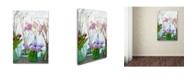 "Trademark Global Cora Niele 'Spring Flowers In Glass Bottles V' Canvas Art - 47"" x 30"" x 2"""