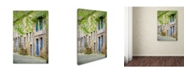 "Trademark Global Cora Niele 'Medieval Village Center Of Moncontour' Canvas Art - 24"" x 16"" x 2"""
