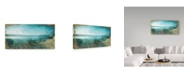 "Trademark Global Color Bakery 'Lake of Stars I' Canvas Art - 32"" x 16"" x 2"""