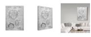 "Trademark Innovations Cole Borders 'Helmet' Canvas Art - 24"" x 18"" x 2"""
