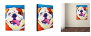 "Trademark Global DawgArt 'Bully Grin' Canvas Art - 24"" x 32"" x 2"""