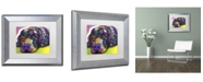 "Trademark Global Dean Russo 'Savvy Labrador' Matted Framed Art - 14"" x 11"" x 0.5"""