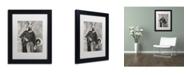 """Trademark Global J Hovenstine Studios 'Hans The German Shepherd' Matted Framed Art - 11"""" x 14"""" x 0.5"""""""