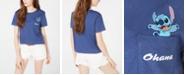 Disney Juniors' Stitch Graphic Pocket T-Shirt by Freeze 24-7
