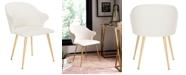 Furniture Edmond Linen Blend Arm Chair, Quick Ship