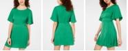 Speechless Juniors' Flutter-Sleeve Fit & Flare Dress