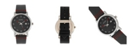 Simplify Quartz The 5300 Black Dial, Genuine Black Leather Watch 40mm