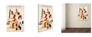 "Trademark Global Vintage Apple Collection 'Travel Espagne' Canvas Art - 24"" x 16"" x 2"""