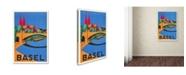 "Trademark Global Vintage Apple Collection 'Basel Travel' Canvas Art - 47"" x 30"" x 2"""