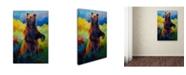 "Trademark Global Marion Rose 'I Spy Grizz' Canvas Art - 19"" x 12"" x 2"""