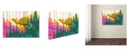 "Trademark Global Ric Stultz 'Overseeing The Range' Canvas Art - 19"" x 14"" x 2"""