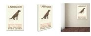 "Trademark Global Michelle Campbell 'Labrador Print' Canvas Art - 47"" x 30"" x 2"""