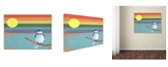 "Trademark Global Tammy Kushnir 'Rainbow And Bird' Canvas Art - 24"" x 18"" x 2"""