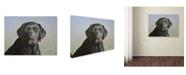 "Trademark Global Robert Wavra 'Black Labrador Retriever' Canvas Art - 19"" x 14"" x 2"""