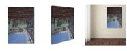 "Trademark Global Rusty Frentner 'Wood Covered Bridge' Canvas Art - 32"" x 24"" x 2"""