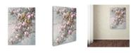 "Trademark Global Wanda Mumm 'Doves And Magnoilas' Canvas Art - 19"" x 14"" x 2"""