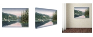 "Trademark Global Wanda Mumm 'Swans At Sunrise' Canvas Art - 47"" x 35"" x 2"""