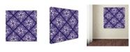 "Trademark Global Yachal Design 'Dancing Petals 200b' Canvas Art - 14"" x 14"" x 2"""