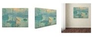 "Trademark Global Monet 'Sunrise' Canvas Art - 24"" x 18"" x 2"""