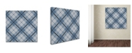 "Trademark Global Jean Plout 'Deer Trail Plaid 1' Canvas Art - 35"" x 35"" x 2"""