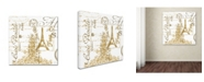 "Trademark Global Jean Plout 'Paris 2' Canvas Art - 35"" x 35"" x 2"""