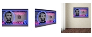 "Trademark Innovations Octavian Mielu '5 dollars' Canvas Art - 47"" x 30"" x 2"""