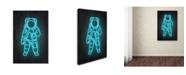 """Trademark Innovations Octavian Mielu 'Astronaut' Canvas Art - 47"""" x 30"""" x 2"""""""