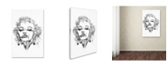 "Trademark Innovations Octavian Mielu 'Marilyn Monroe' Canvas Art - 47"" x 30"" x 2"""