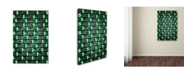 "Trademark Innovations Octavian Mielu 'Money money money' Canvas Art - 19"" x 12"" x 2"""