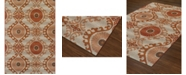 "D Style Weekend Wkd2 Paprika 5'1"" x 7' Area Rug"