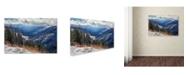 "Trademark Global Mike Jones Photo 'Sierra Blanca Snow' Canvas Art - 32"" x 22"" x 2"""